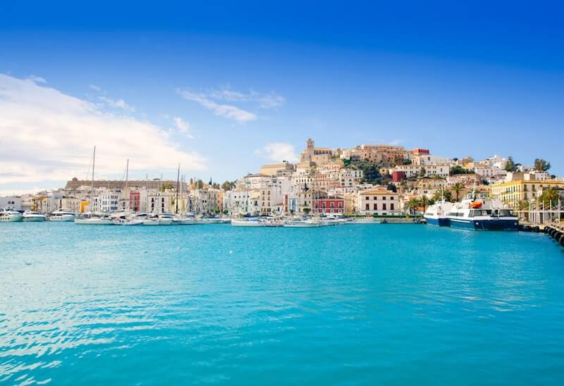 Ibiza Old Town and harbour