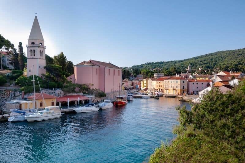 charming Veli Losinj harbour