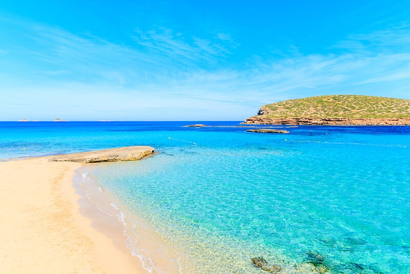 Electric blue seas of Cala Comte