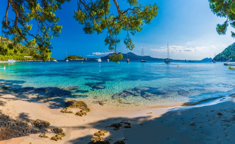pretty beach at Cap de Formentor