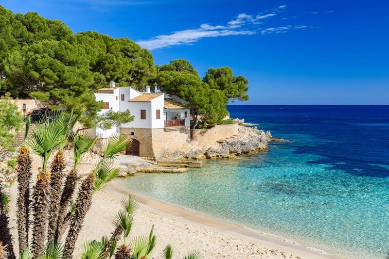 pretty beach on Mallorca