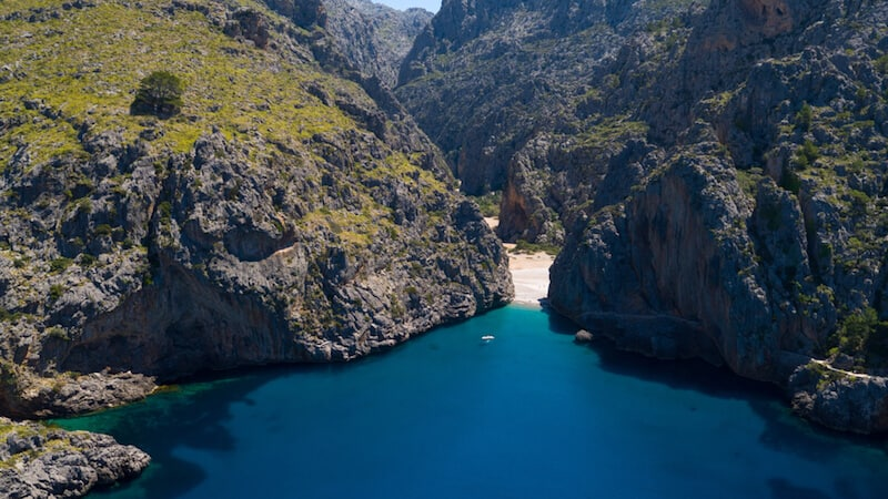 idyllic hidden beach on Mallorca