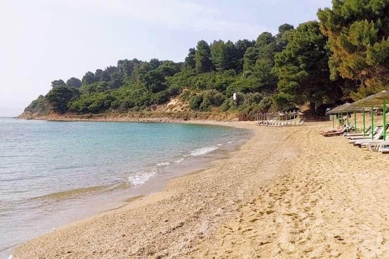 sandy Agia Eleni beach