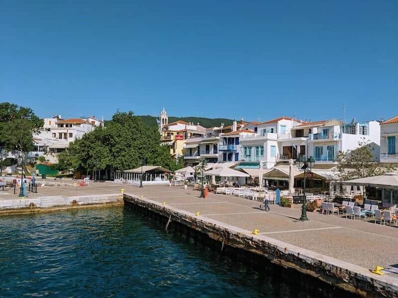 Skiathos Old Port harbour