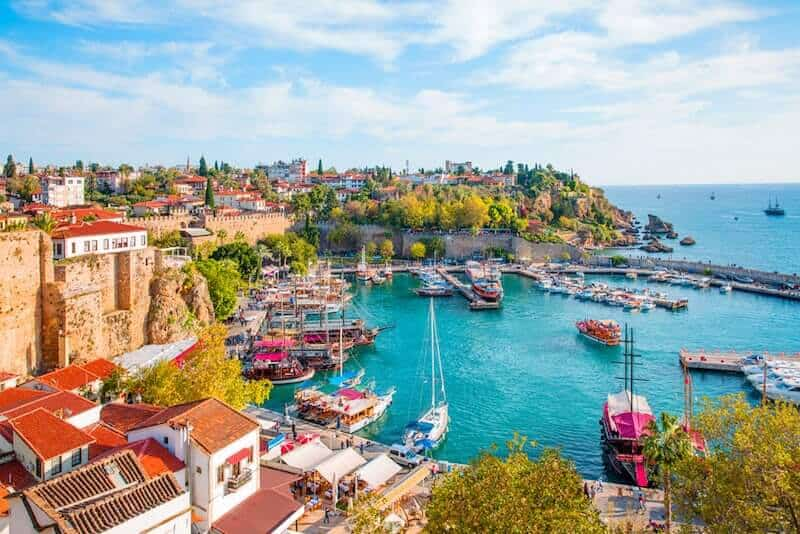 boats in Antalya harbour