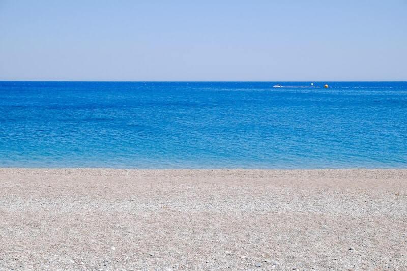 empty beach near Gennadi