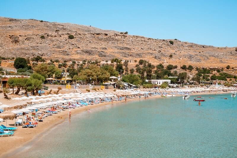 main beach at Lindos