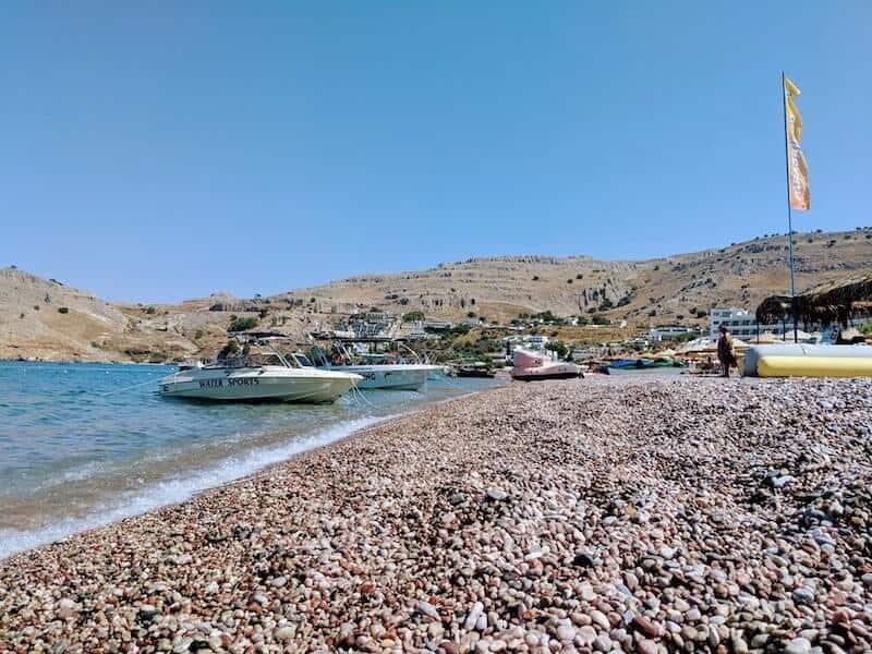 pebbly Vlycha beach