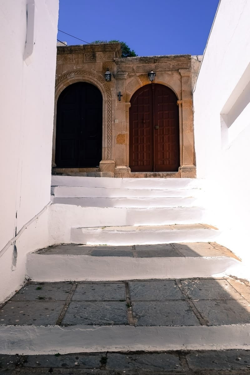 stairway in Lindos village