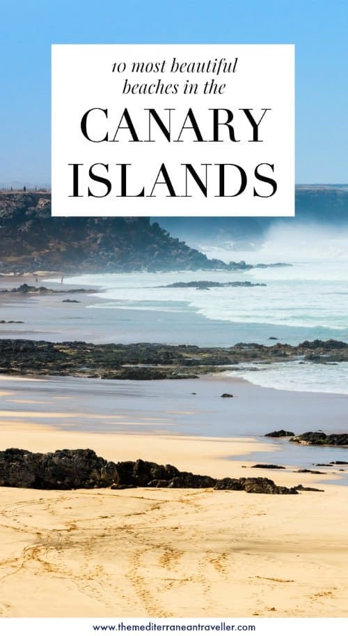 El Cotillo beach with text overlay '10 most beautiful beaches in the Canary Islands'