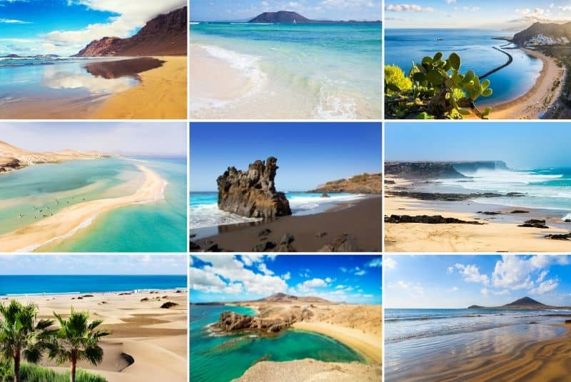 Best beaches in the Canary Islands - collage