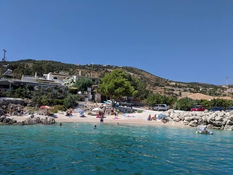 Agios Nikolaos beach from the sea