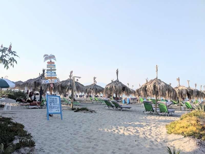 beach bars on Alykes beach