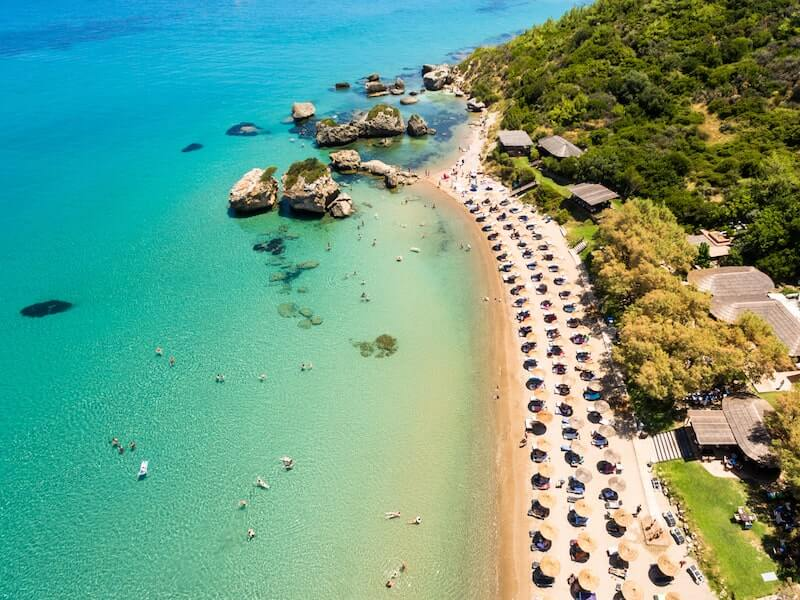 Porto Zorro beach from above