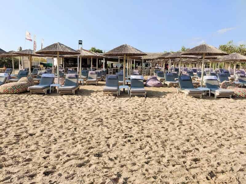 beach bar on Tsilivi beach