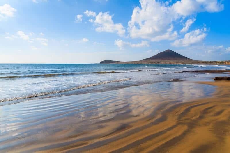red-gold sand at El Medano, Tenerife