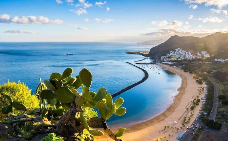 Teresitas beach and bay