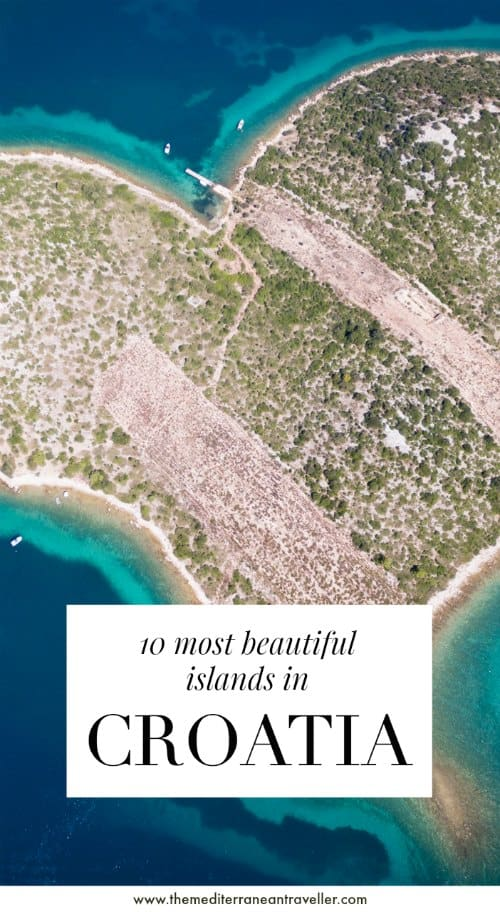 Galesnjak with text overlay '10 most beautiful islands in Croatia'