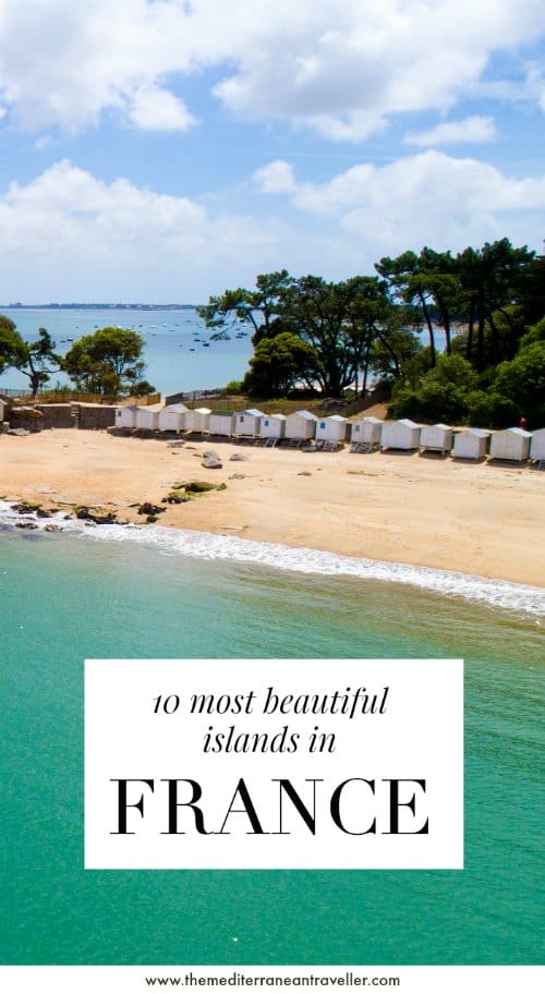 Noirmoutier beach with text overlay '10 most beautiful islands in France'