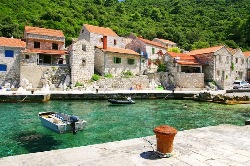 pretty Lucica harbour in Lastovo