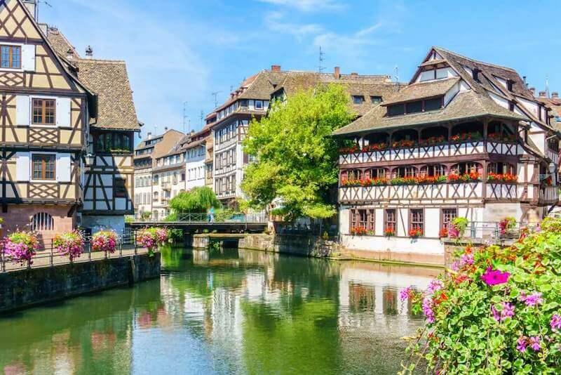 timber framed buildings in Strasbourg