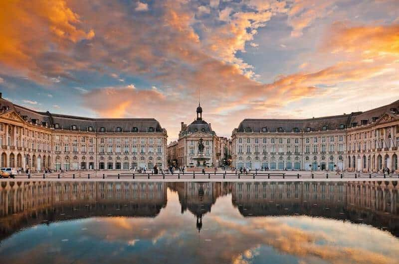 Dramatic sky over Bordeaux