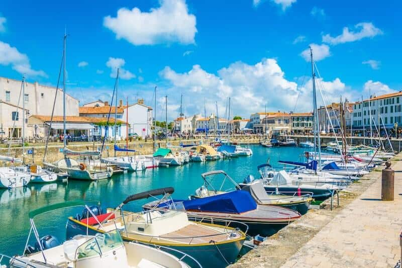 boats in the harbour at St Martin de Re