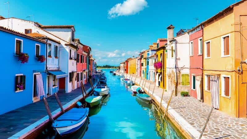 Burano's colourful houses and canal