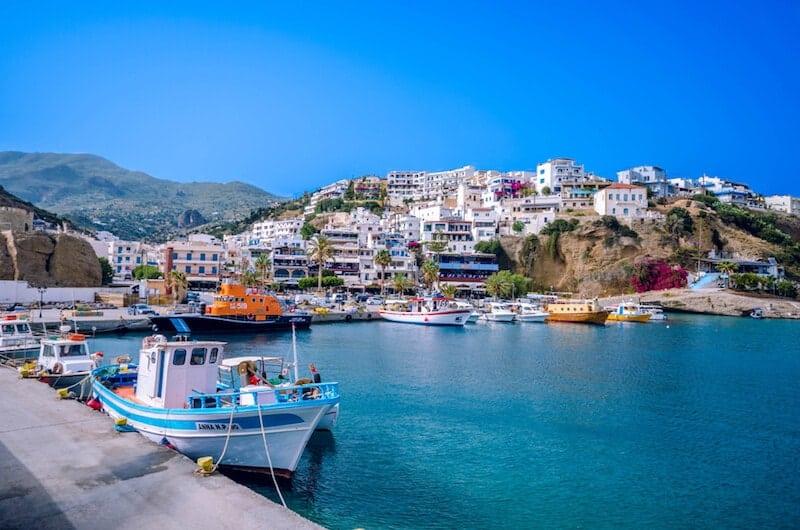 the resort town of Agia Galini