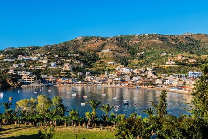 pretty Agia Pelagia bay