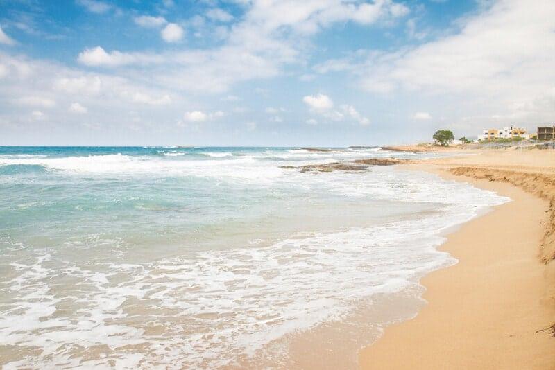 sandy beach at Malia