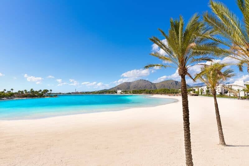 White sandy beach at Alcudia